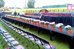 Outdoor commencement stage