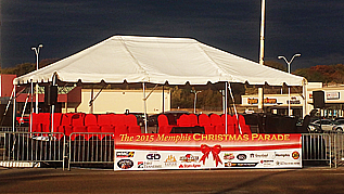 Parade Stage and Tent for rent in Memphis