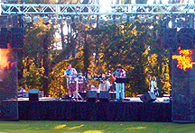 Band stage and sound in Meridian, MS