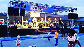 collierville festival stage sound lights power generator